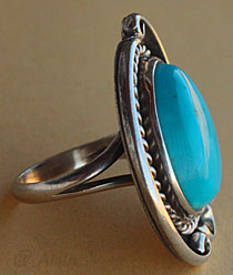 Indian Native american jewelry turquoise ring