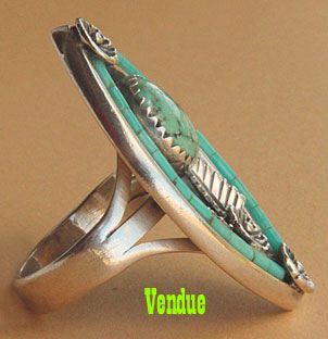 Navajo or Santo Domingo Indian native american old pawn or dead pawn ring
